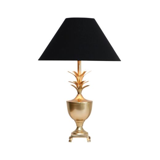Brass Pine Lamp Pair $495