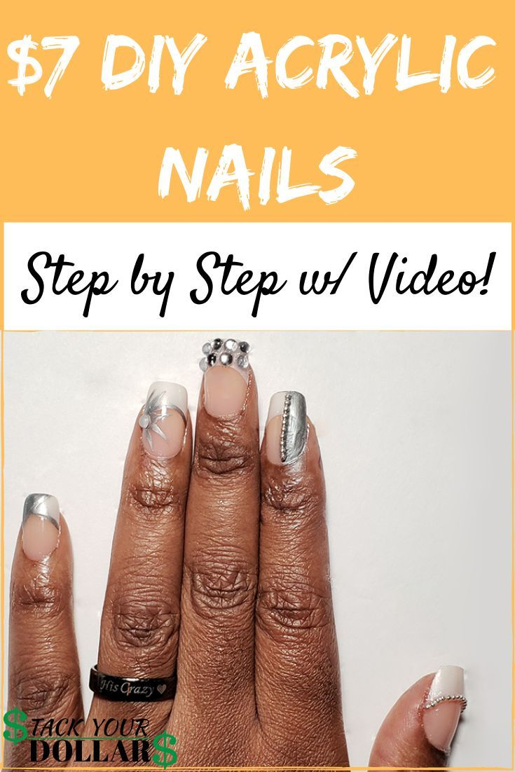 How To Do Acrylic Nails On A Budget In 2020 Diy Acrylic Nails Acrylic Nails Acrylic Nails At Home