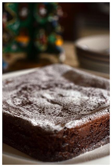 Dark Chocolate and Prune Cake