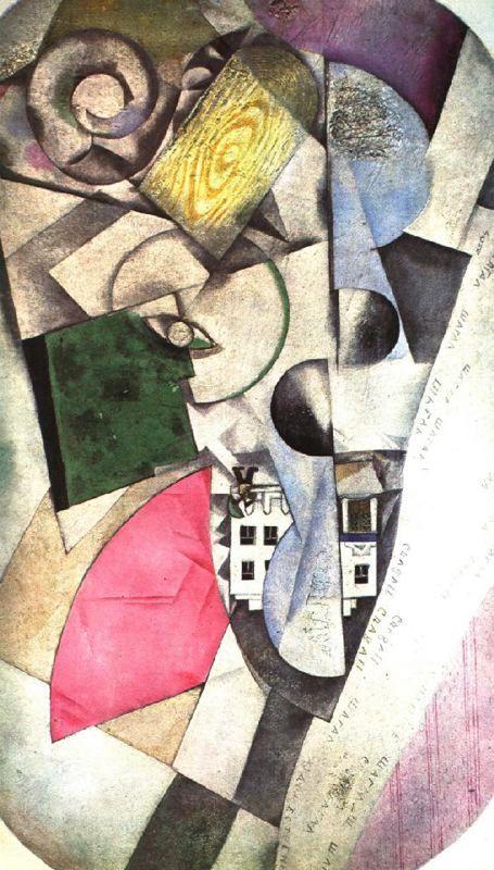Cubist landscape - Marc Chagall