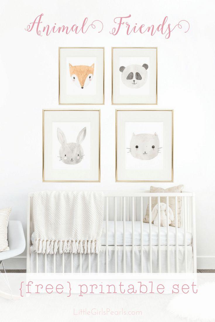 Animal Friends Free Printable Set – Nursery
