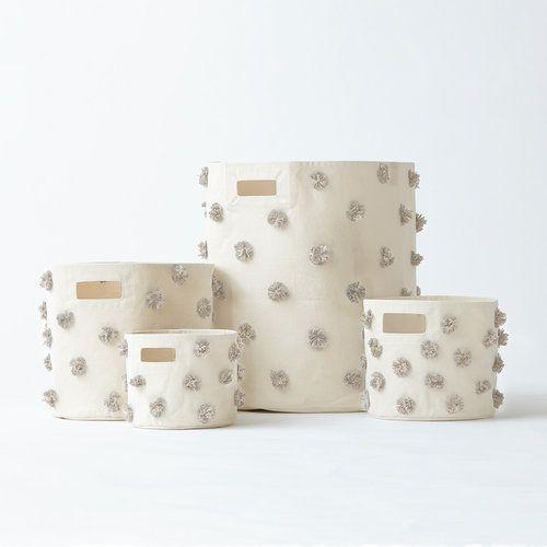Pehr Designs Storage Bin-Pom Pom- Mini
