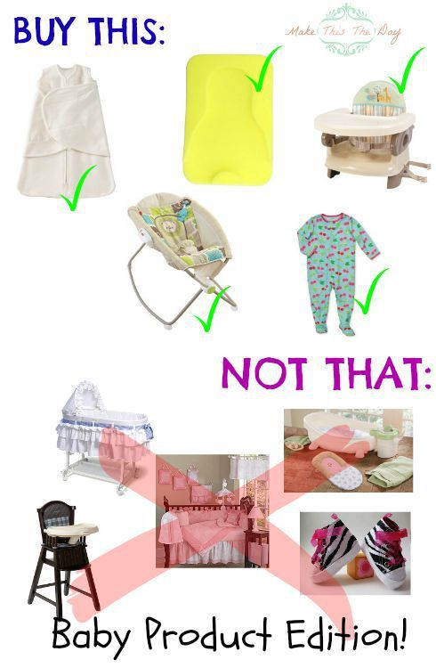 Curious of what to register for? Buy This/Not That: What you really need to buy for a baby.