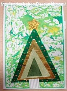 Pour la carte, un collage avec des triangles. Rien de bien compliqué, rapide et…
