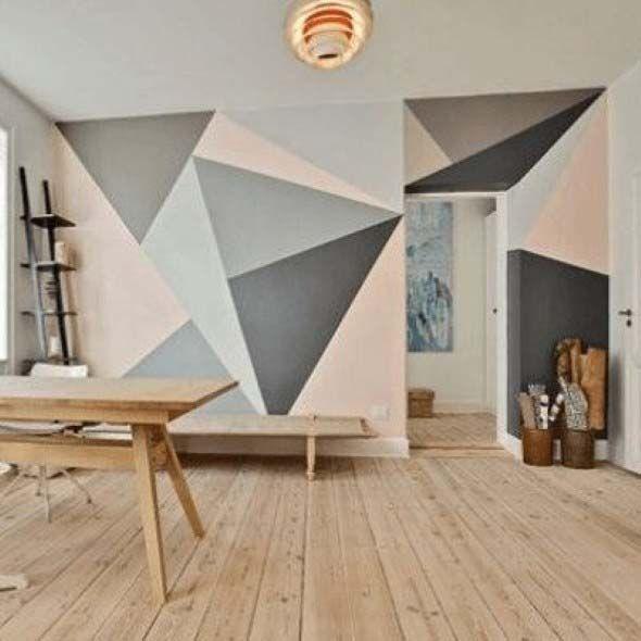 Veja como criar lindas estampas geométricas nas paredes aí da sua casa, e com isso crie um visual renovado e bem charmoso em cada ambiente.