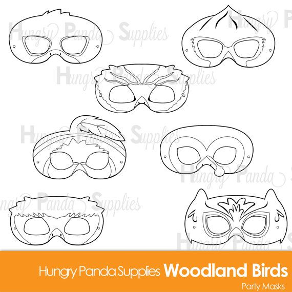 The 25 best duck mask ideas on pinterest duck and dressing woodland forest birds printable coloring masks turkey mask owl mask cardinal mask pronofoot35fo Gallery