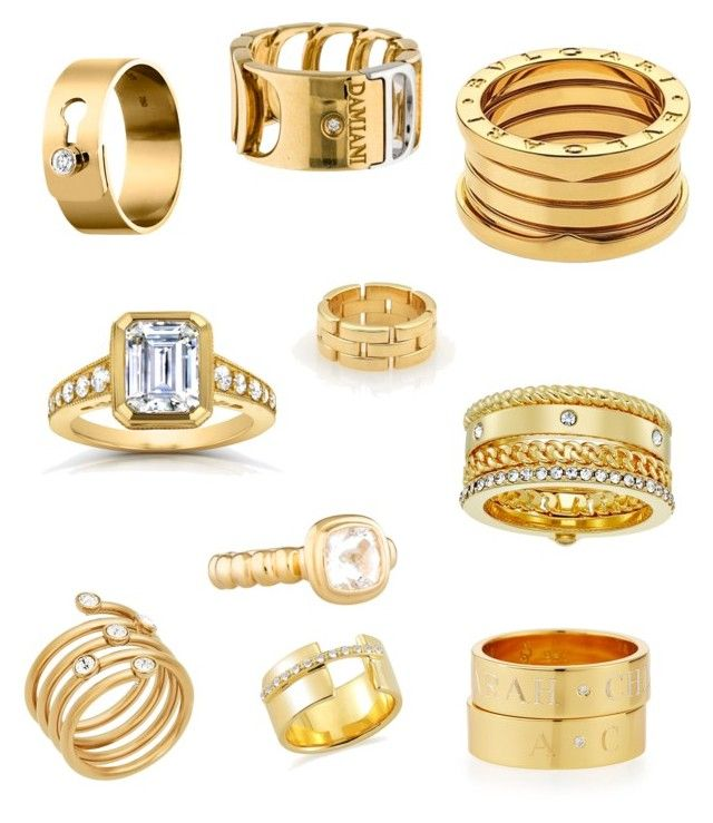 gold rings by acamp i on polyvore featuring bulgari dinh van