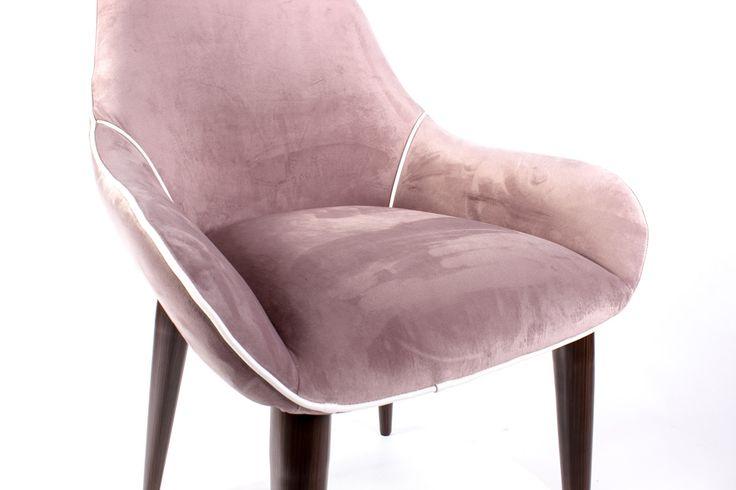 Кресло Deny пыльно-розовый бархат 1 шт от DeepHouse в наличии!