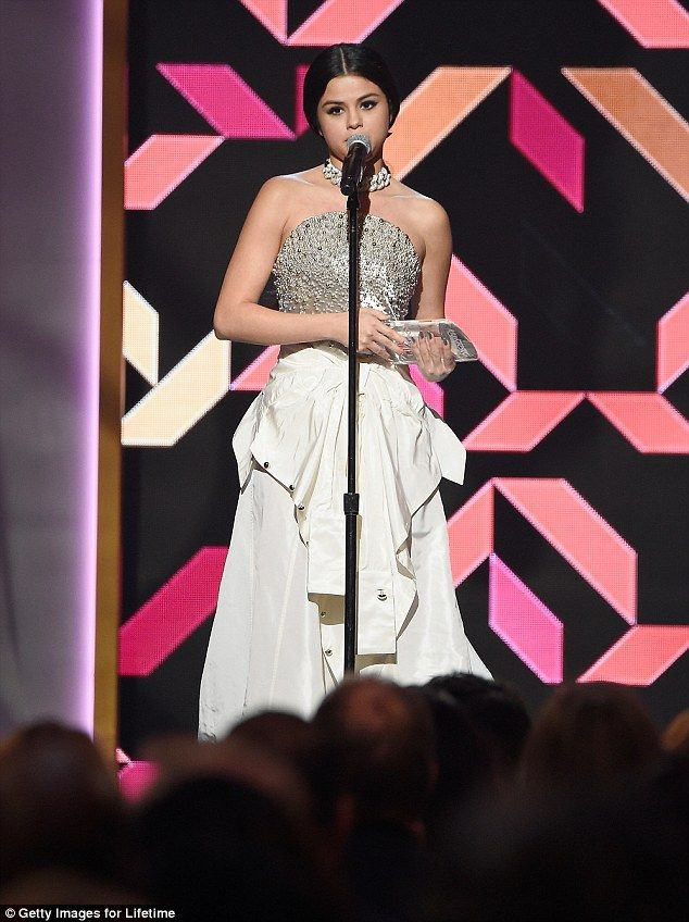 'I have so much more to prove': She was happy to address the crowd as she accepted the'Ch...