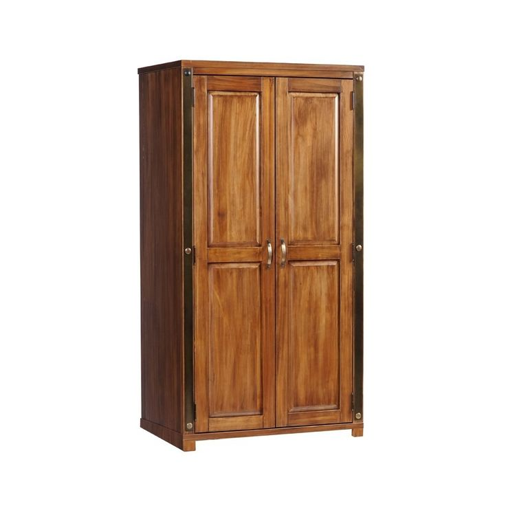 Core Products Forge Aged Metal U0026 Pine 2 Door Wardrobe