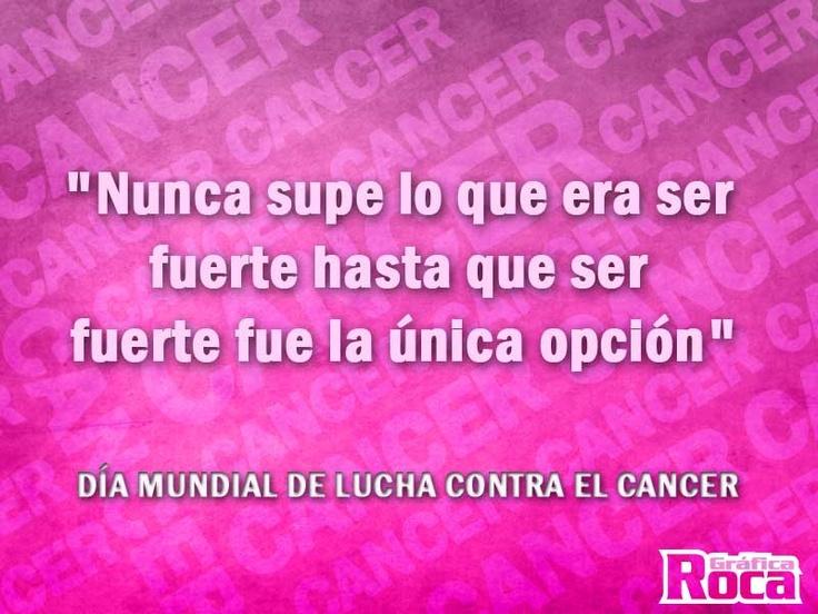 Día internacional de lucha contra el cáncer