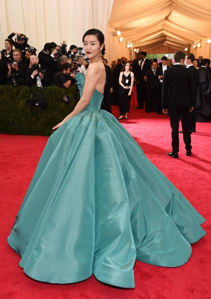 Liu Wen in Zac Posen in 2014 - The Best Met Gala Dresses of All Time