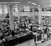 Customers shopping at Maas Brothers department store - Saint Petersburg, Florida