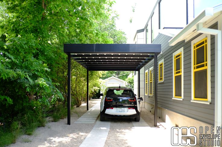 oes steel carport with concrete
