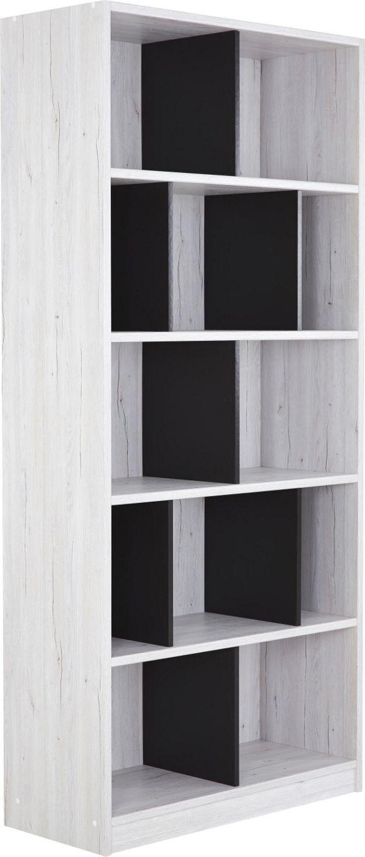 Clever kombiniert. Dieses Regal vereint schwarz und weiß gekonnt in einer optisch perfekten Anordnung und bietet viel Stauraum für deine persönlichen Gegenstände und Dekoration.   REGAL in 90/198/38 cm Dunkelgrau, Weiß - Regale & Wandboards - Jugendzimmer - Beimöbel - Kinder & Jugend - Produkte