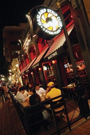 Gaslamp Strip Club – Patio Seating.  Not a strip club. Cook your own food. Reaso…