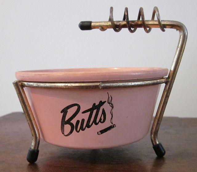 Vintage pink ashtray.