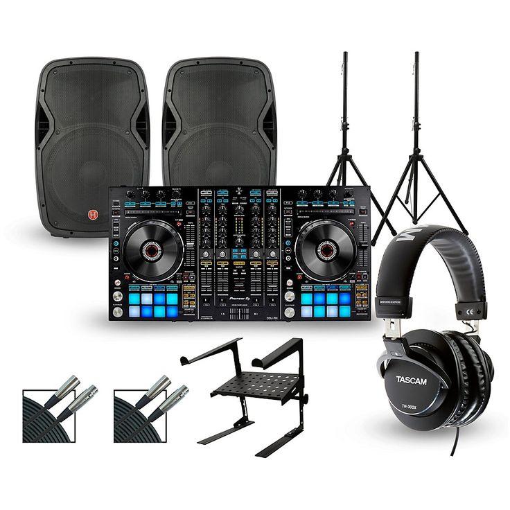 Pioneer DDJ-RZ with Harbinger V1015 DJ Package