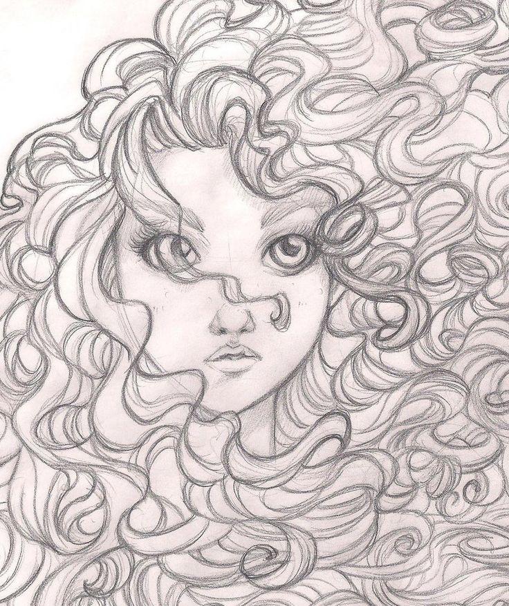 Brave - Merida: disney, princess, sketch