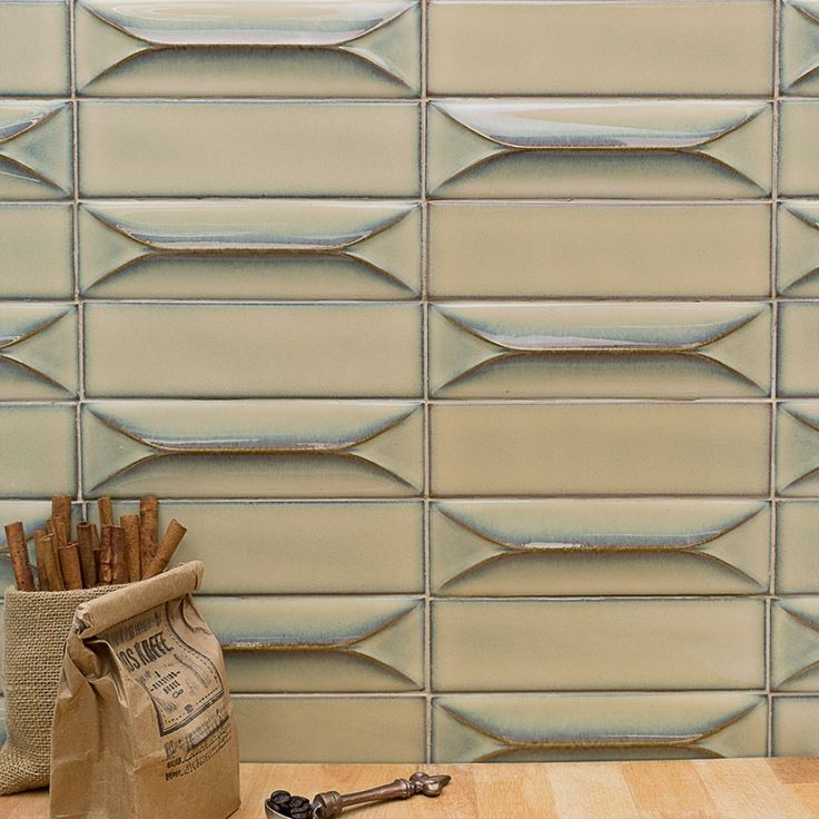 Byzantine Latte 3d Ceramic Subway Tile In 2019 House