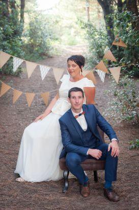 Robe de mariée bohème fluide et top évasé, Sarah