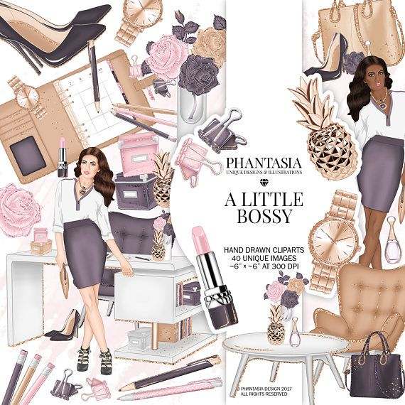 Girl Boss Clipart Office Clipart Fashion Clipart
