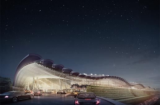 Hoping to read to more about the design specifics soon - RSHP wins competition for T3 at Taiwan Taoyuan International Airport. · News · Rogers Stirk Harbour + Partners