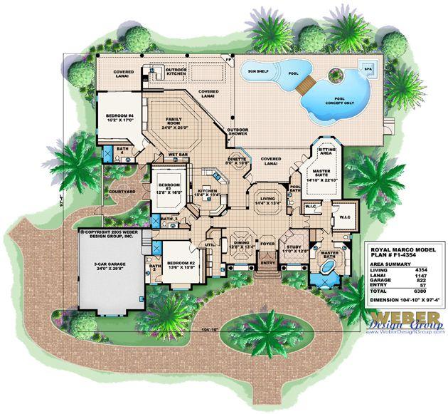Royal marco home plan mediterranean house plans exterior pinterest mediterranean house - Mediterranean mansion floor plans design ...