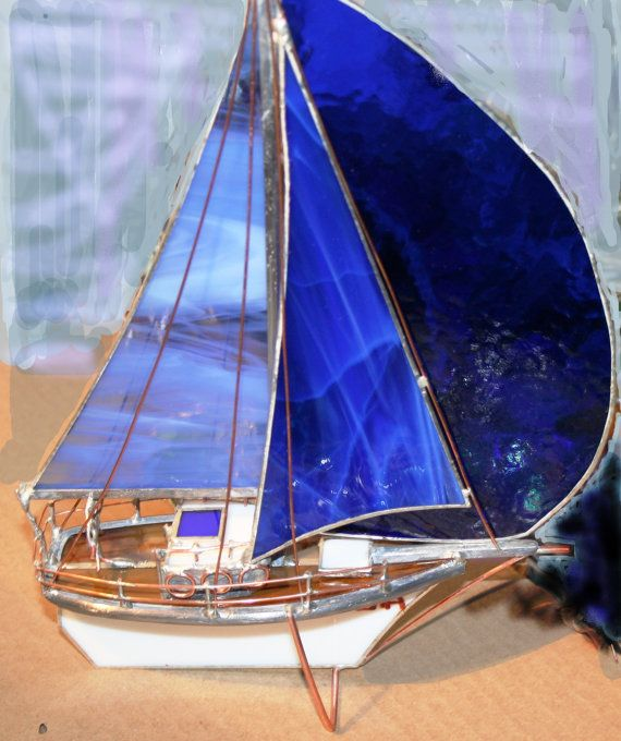 love these stained glass boats!