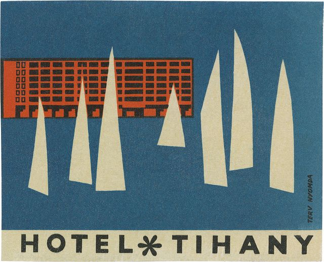 luggage label / Hotel Tihany  davidgeorgepearson