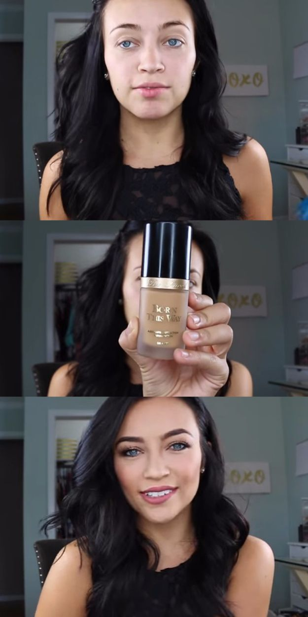 Best Foundation Tutorials - Flawless Face Routine Foundation, Highlight, Contour + Baking, et Stephanie Ledda- Step By Step Guides For Flawless Natural Skin, Even For Acne and Oily Skin - Check out these Contour Tips and Tricks with Video Guides - All Sorts of Makeup Techniques that Work with Dark Skin or Pale Skin - thegoddess.com/best-foundation-tutorials