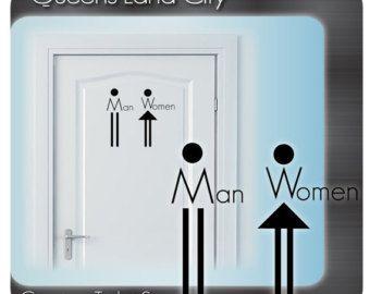 Bathroom Signs Gym restroom directional sign