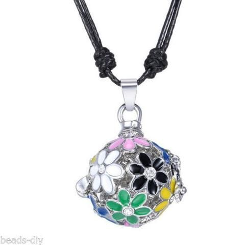 1PC BD Flowers Musical Pregnancy Antenatal Training Adjustable Pendant Necklace
