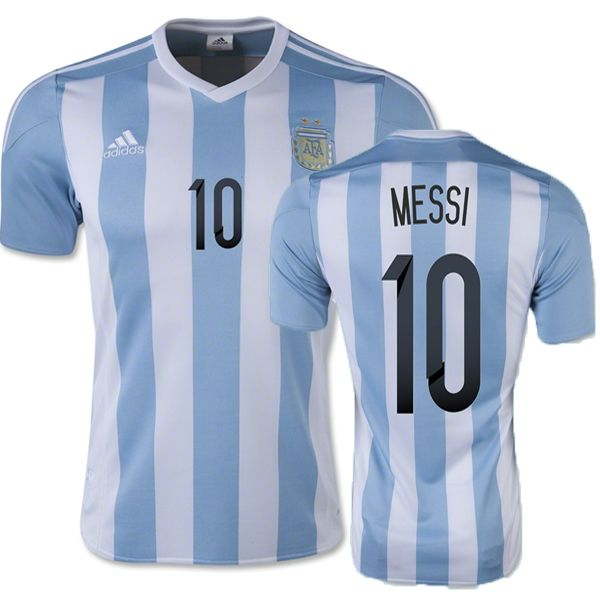 Lionel Messi Youth Home Soccer Jersey 2015 Argentina