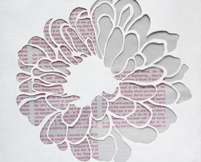 Flower Patterns to Cut Out | Artist Flower Paper Cut by Linda Bennett
