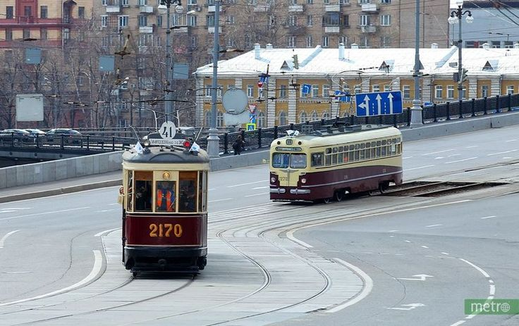 В Москве прошёл парад ретротрамваев. Новости - Москва. Metro
