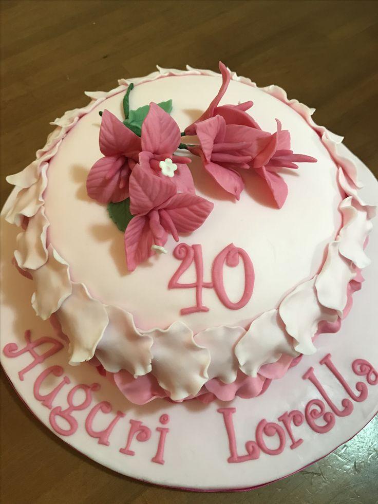 Bouganville cake torta con bouganville