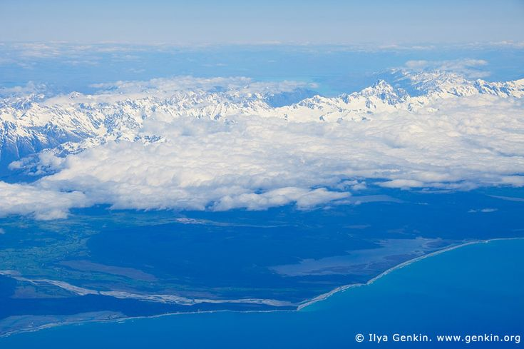 Aerial View of the Aoraki/Mount Cook and Southern Alps, South Island, New Zealand