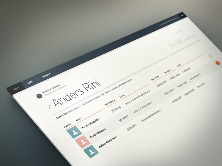 Customer Admin - Search by Anders Ringfelter