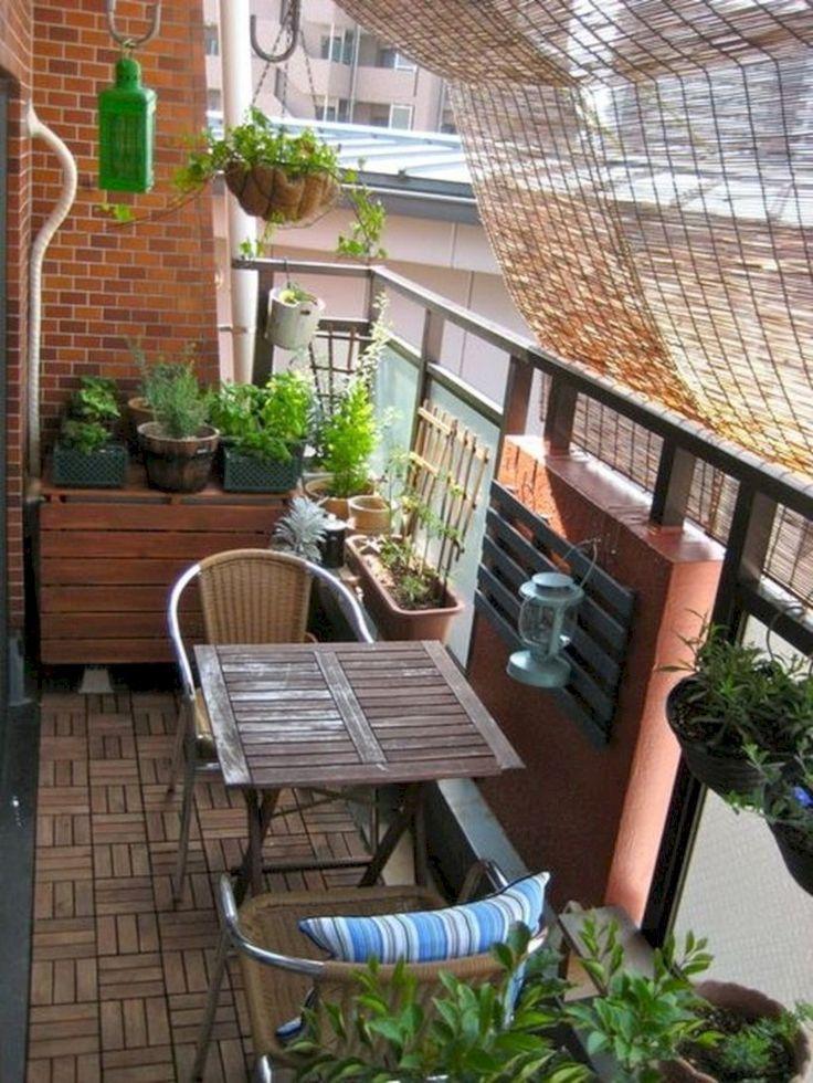 42 Creative Small Apartment Balcony Dekorieren von Ideen mit kleinem Budget