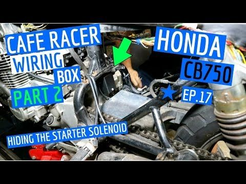 Making a ☆ Cafe Racer Electronics Box to Hide Starter Solenoid
