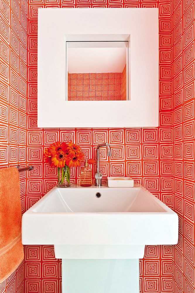 Die besten 25+ Orangefarbene badezimmereinrichtung Ideen auf