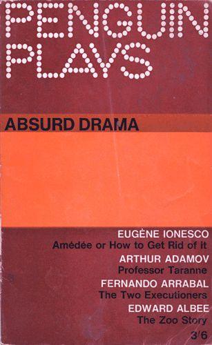 Absurdo Drama  Progetto grafico di Denise York.  Collana Penguin Plays.