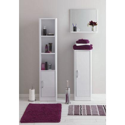 Aliso Single Door Bathroom Floor Cabinet - White Gloss