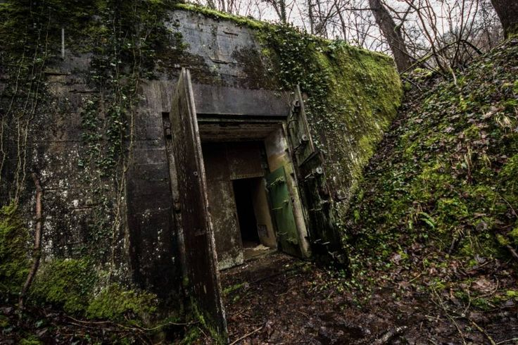 Entrance to Adolph Hitler's Secret bunker. Whereabouts unknown