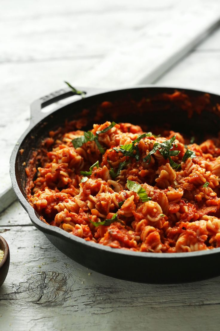 Spicy Red Pasta with Lentils and GF Pasta!