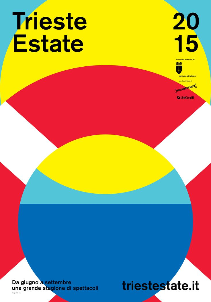 The communication for Trieste Estate 2015 was designed by Studio Mut