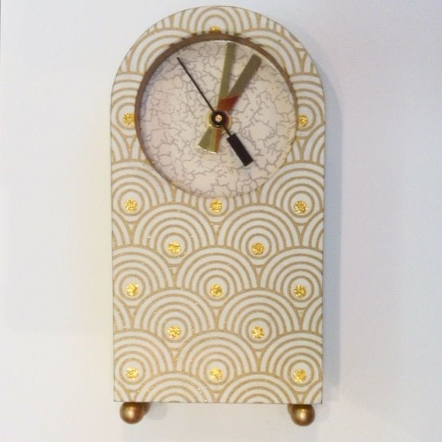 Handmade paper clock