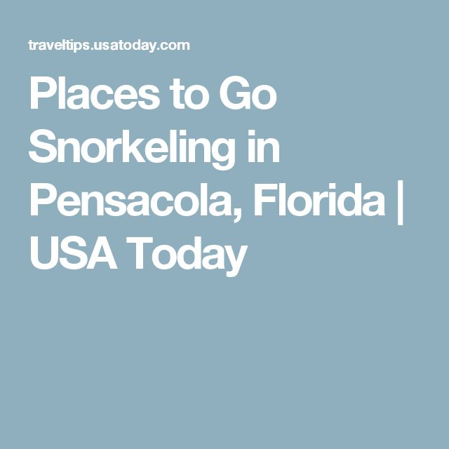 Places to Go Snorkeling in Pensacola, Florida | USA Today