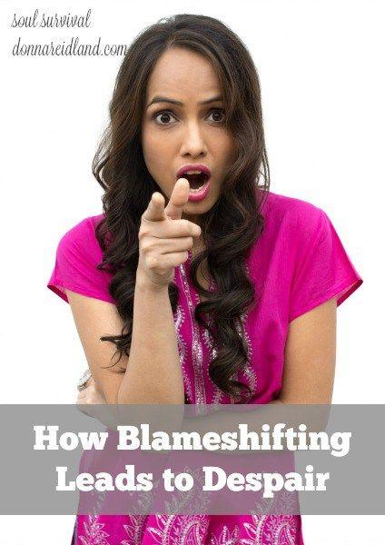 """How Blameshifting Leads to Despair"" (12.2) #blame #blameshifting #despair #personalresponsibility #sovereignty"